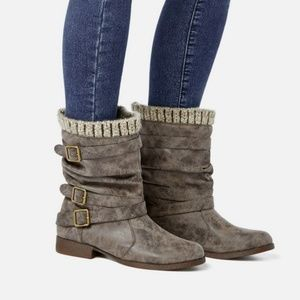 Shoes - Sweater cuff booties